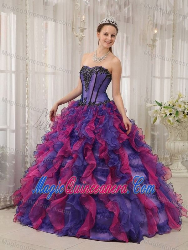 042ef746d57 Multi-color Ruffled Organza Appliques Sweet 16 Dresses in Belfast ...