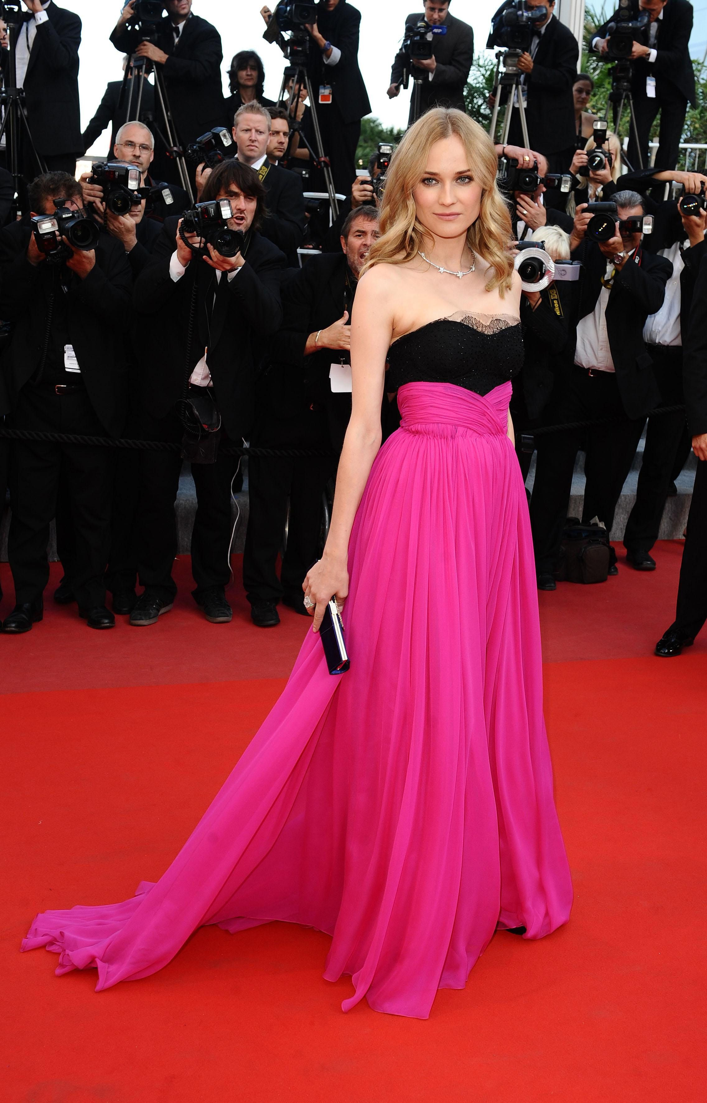 Diane Kruger black and hot pink dress at Cannes | Stylissima in 2018 ...