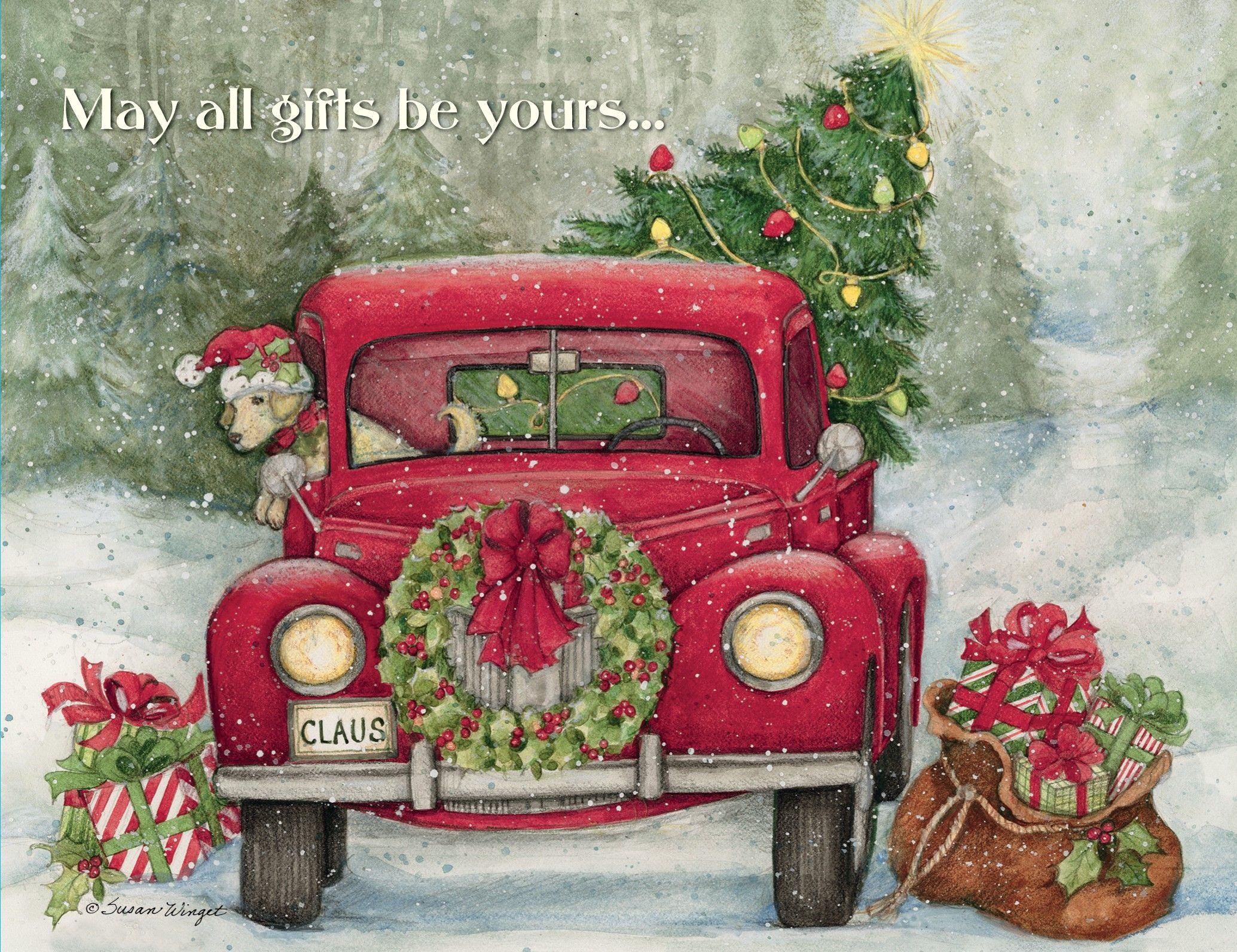 Santa's Truck Boxed Christmas Card , 1004756 | Lang ...