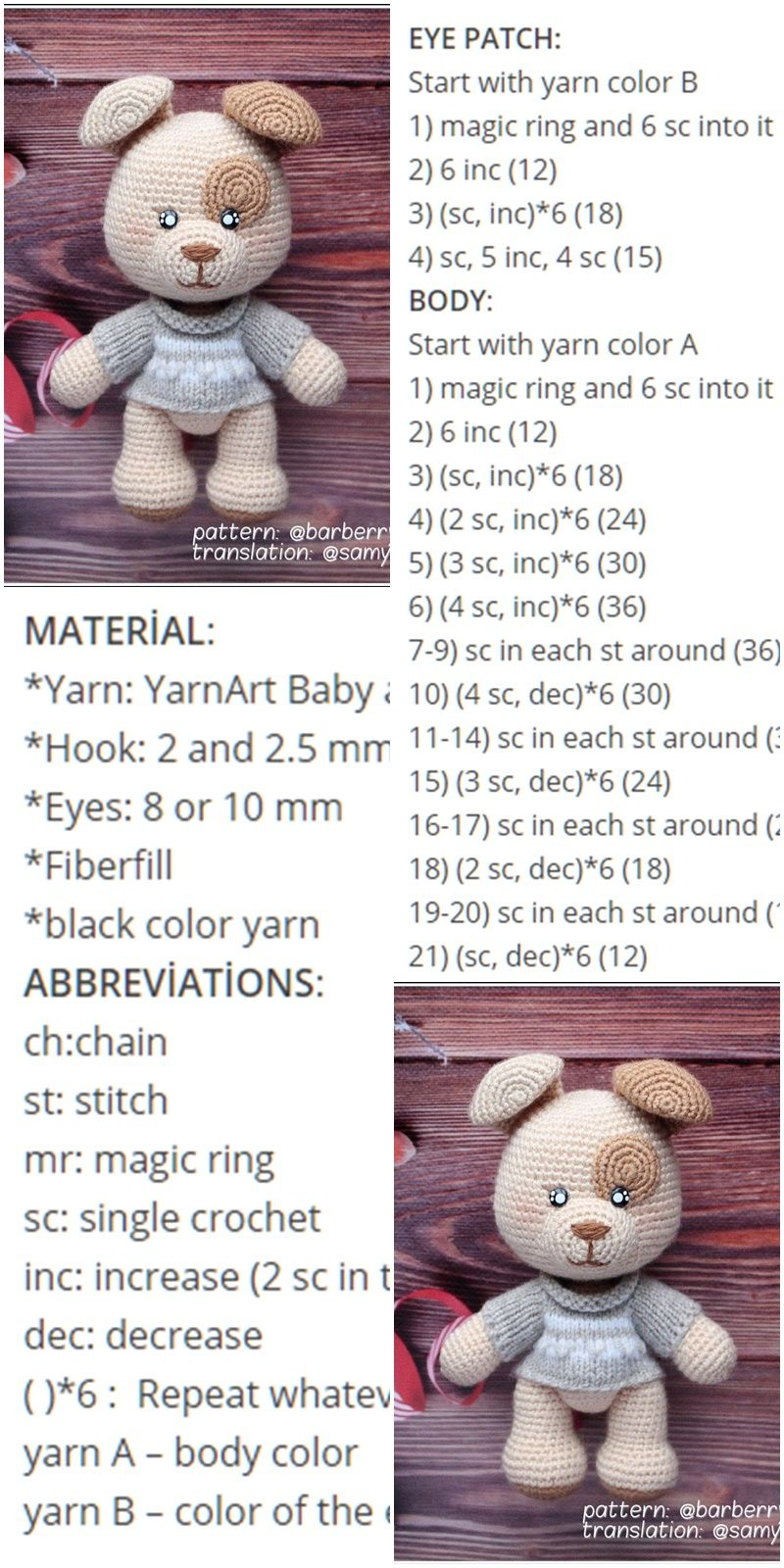 25 Free Amigurumi Dog Crochet Patterns to Download Now! | 1600x800