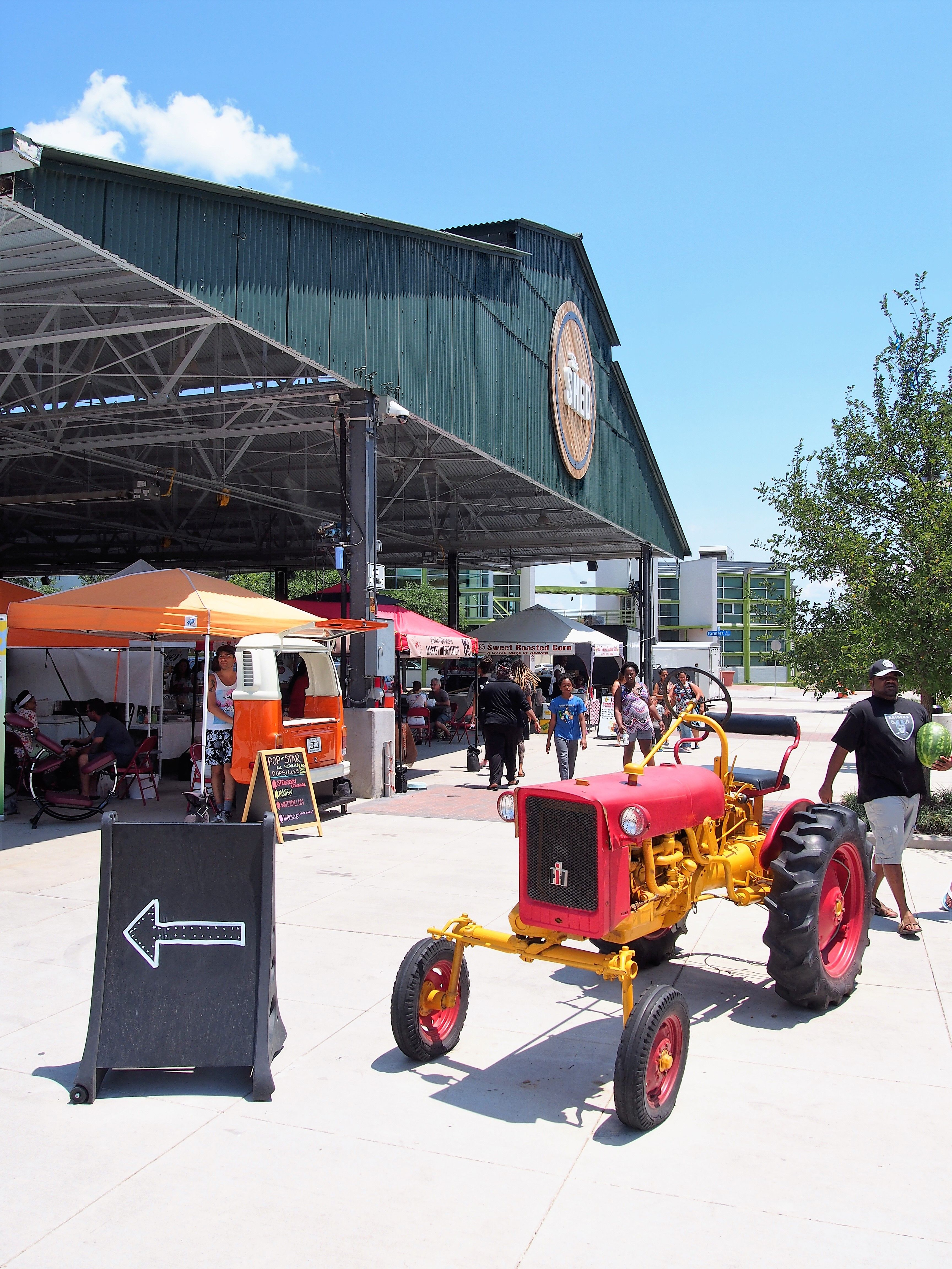 Farmers market the shed tracktor with images dallas