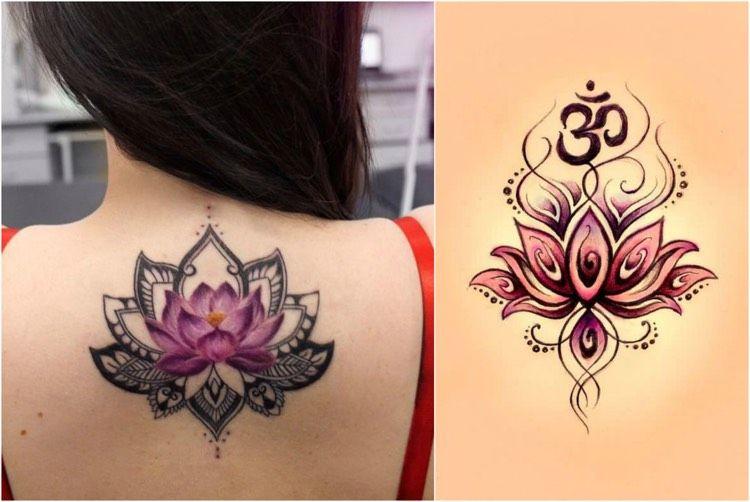 buddhistische symbole bedeutung lotus namaste tattoo 1. Black Bedroom Furniture Sets. Home Design Ideas