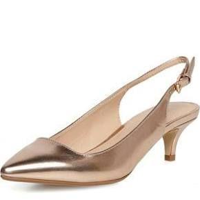 Womens Rose Gold Kitten Heel Point Rose Gold Heels Gold Kitten Heels Gold Shoes