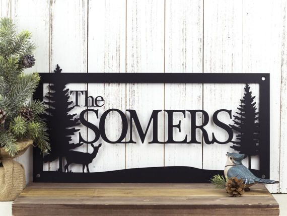 Metal Sign Wall Decor Fascinating Rustic Family Sign  Family Name Sign  Metal Sign  Metal Wall 2018