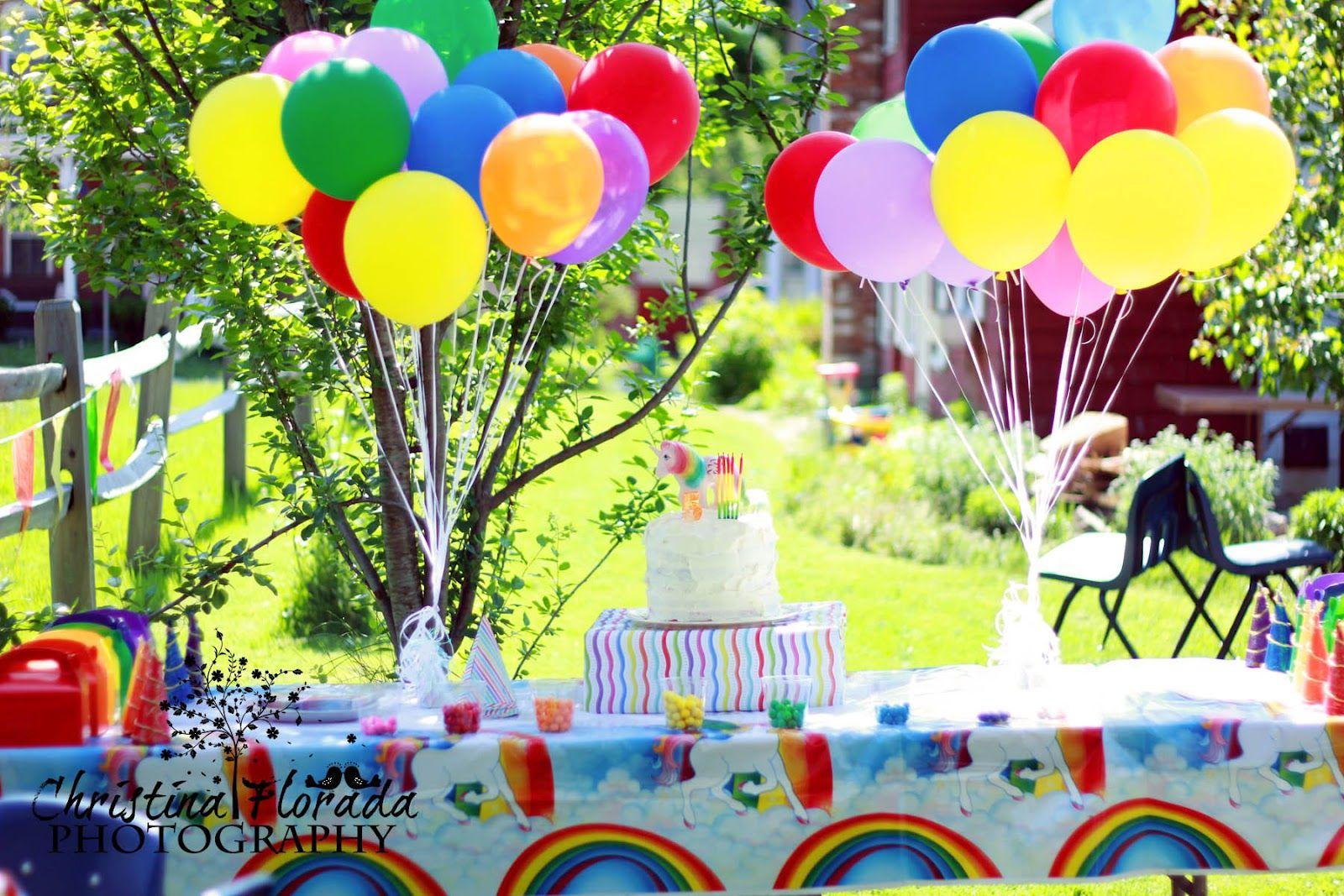 Mayahs 5th birthday rainbow unicorn theme rainbow
