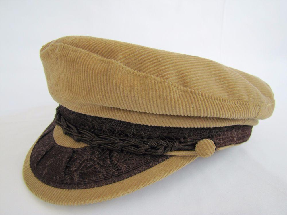 36d973dda Vintage Greek Fisherman's Cap 100% Cotton Made in Greece Aegean Tan ...