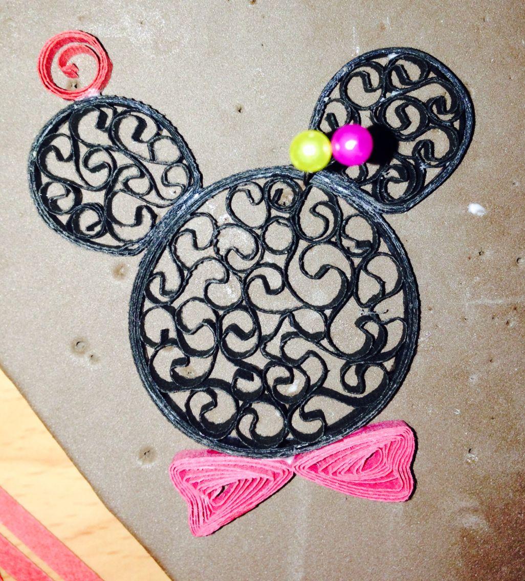 Zelf gemaakt :D Mickey mouse Quilling Disney | Crafts-Paper crafts ...