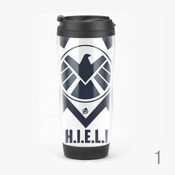 S.H.I.E.L.D. Travel Mug, Marvel Superhero Comics & Movie Coffee Cup, Starbucks Style on Etsy, $16.99