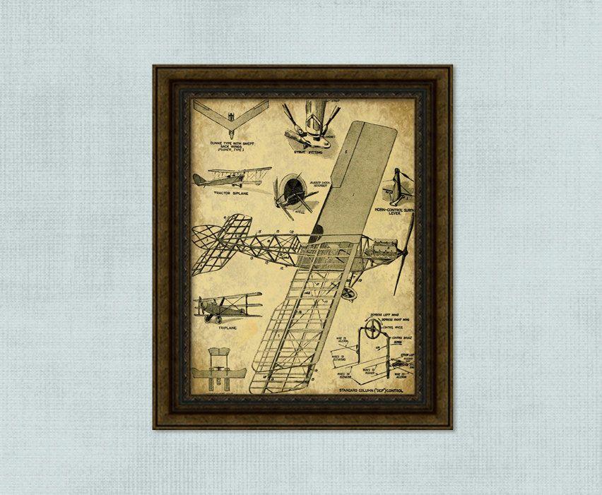 Vintage Airplane Print - INSTANT DOWNLOAD - Boys Room Printable ...