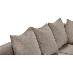 Photo of smart corner sofa beige / mocca – flat weave / woven fabric Rita ¦ beige ¦ Dimensions (cm): H: 86