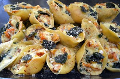 Butternut Squash & Spinach Stuffed Shells with Sage Brown Butter