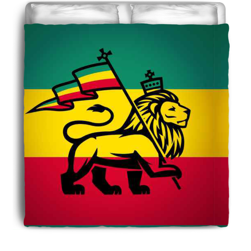 linge de lit rasta Rasta Lion of Zion Eco Friendly & Made in USA Rasta Inspired  linge de lit rasta
