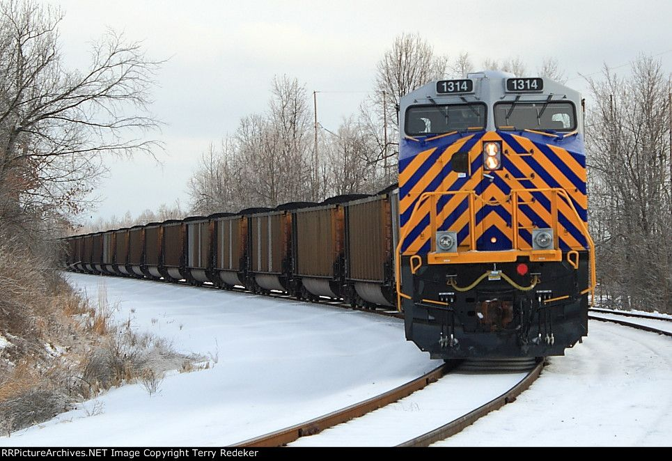 CREX 1314   Description:    Photo Date:  2/6/2014  Location:  Metropolis, IL   Author:  Terry Redeker  Categories:  Roster,Winter,Yard  Locomotives:  CREX 1314(ES44AC)
