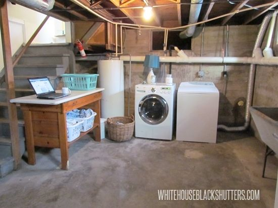 27 Coolest Basement Laundry Room Ideas