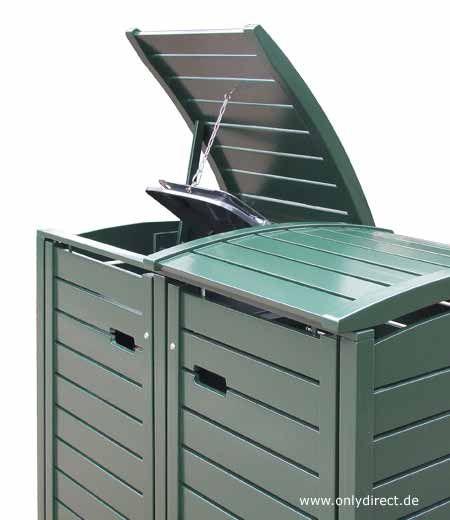 premium m lltonnenbox holz f r 2 tonnen 120 liter oder 240 liter die m llbox in. Black Bedroom Furniture Sets. Home Design Ideas