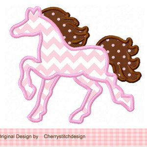 Horse Silhouette Digital Applique -4x4 5x7 6x10-Machine Embroidery Applique Design