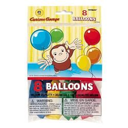 Curious George Latex Balloons [8 Per Pack]$3.99