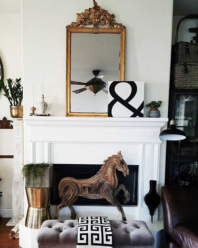 White Black And Gold Living Room Gold And Wood Accents White