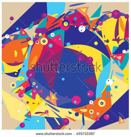 Vector fractal fabric circles abstract colorful wallpaper pattern background also rh pinterest