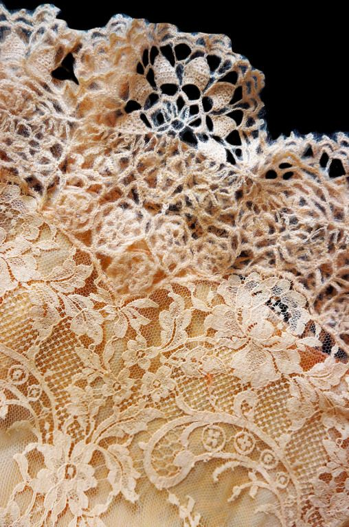 1990s Pale Peach Lace & Knit Valentino | From a collection of rare vintage evening dresses at http://www.1stdibs.com/fashion/clothing/evening-dresses/