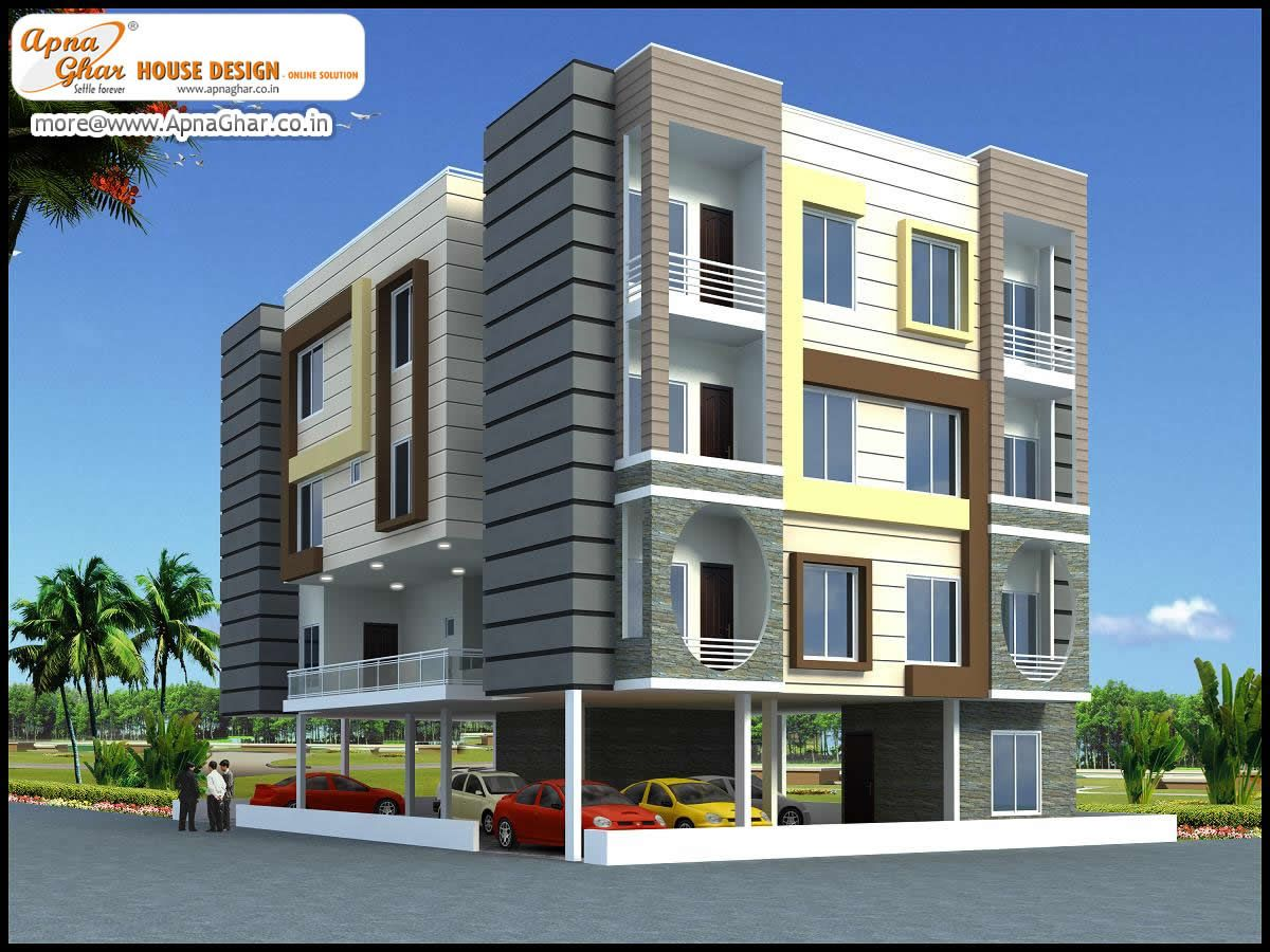 Apartment Design. Click here :(http://www.apnaghar.co.in ...