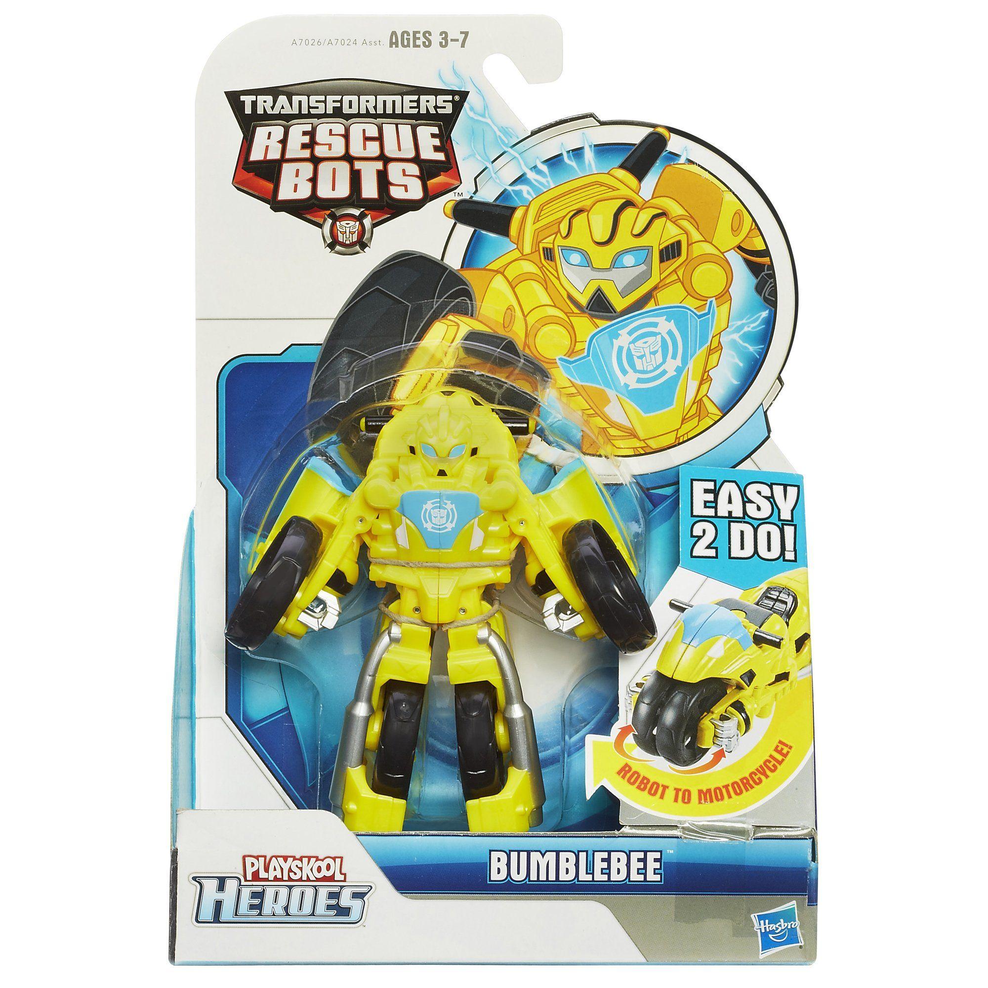 Amazon Com Playskool Heroes Transformers Rescue Bots Bumblebee Figure Motorcycle Toys Games Rescue Bots Transformers Rescue Bots Transformers