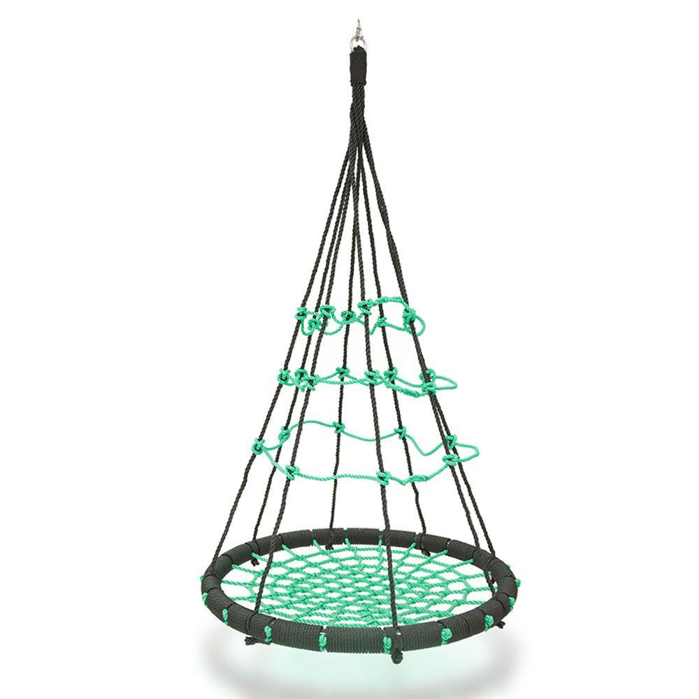 Garden Swing Seat Green Hammock Swing Nest Round Hanging