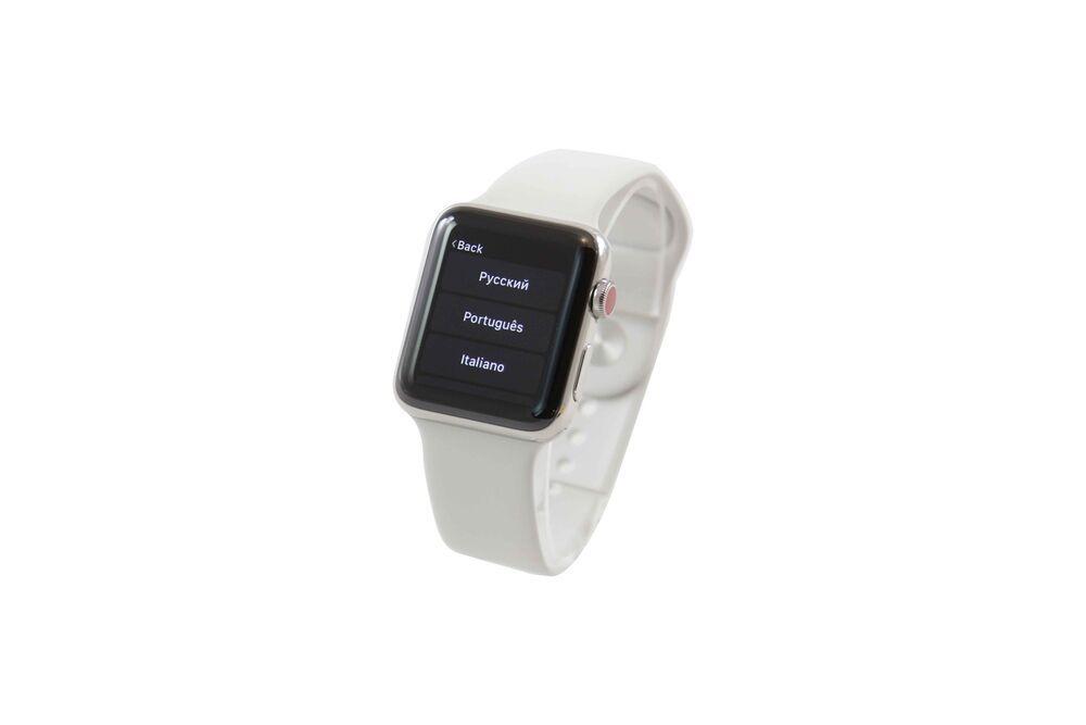 Apple Watch Series 3 42mm Edelstahlgehause Mit Sportarmband In Soft Weia 487 Handys