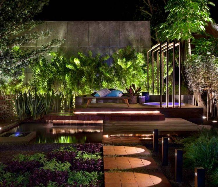 wundersch ne beleuchtung im garten planen garten beleuchtung pinterest garten terrasse. Black Bedroom Furniture Sets. Home Design Ideas