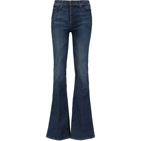 MOTHER The Pixie Cruiser mid-rise bootcut jeans (205 CAD) ❤ liked on
