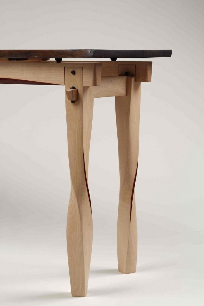 Twisted Leg Table With What Looks Like A Wedged Tenon Wood Table Design Diy Furniture Wood Joinery