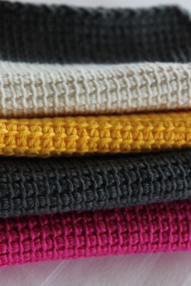DYI – Waschlappen mit echtem Afghan Crochet | Waschlappen, Häkeln ...