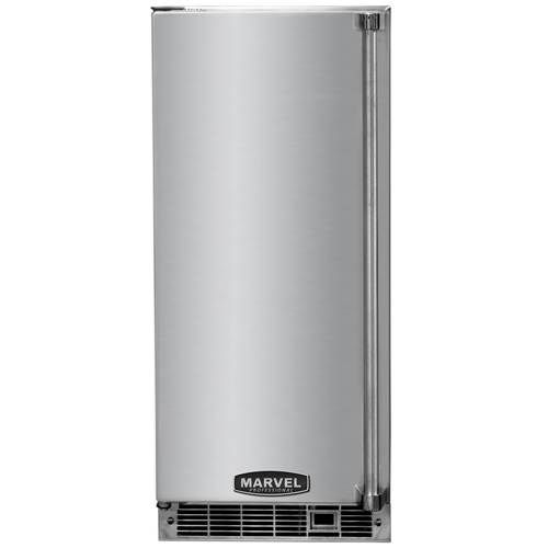 Marvel Professional 15 Inch Indoor Clear Ice Maker With Stainless Steel Door And Pump Products Stainless Steel Doors Drain Pump Ice