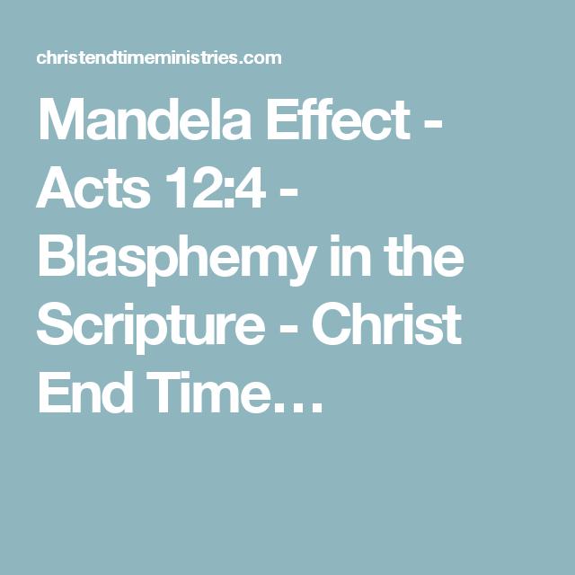 Scripture about blasphemy