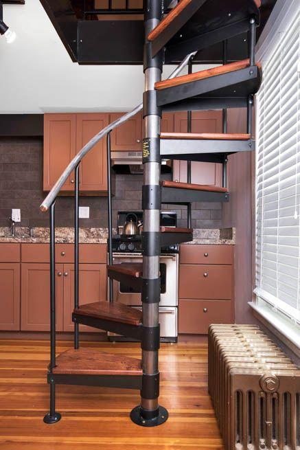 Best The Butler Adjustable Step Height Spiral Stairs Spiral 400 x 300