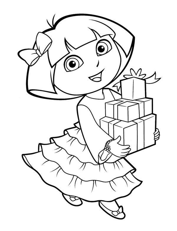 Dora The Explorer Coloring Pages For Toddlers Procoloring