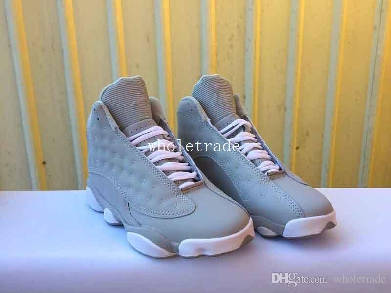 e3c8bc10cddc Womens Mens Shoes 13s 13 Wolf Grey Basketball Shoes XIII Wolf Grey Sneakers  For Sale Size