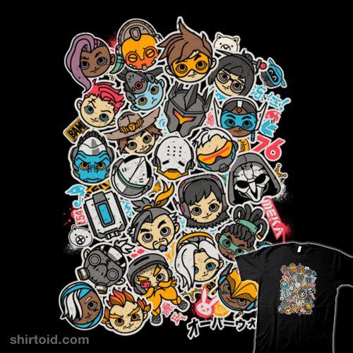 Overcute Plus | Shirtoid #adamworks #chibi #gaming #kawaii #melee_ninja #meleeninja #overwatch #videogame