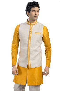 b340bd8f489 Designer Sangeet Wear Nehru Jacket Nehru Jacket For Men