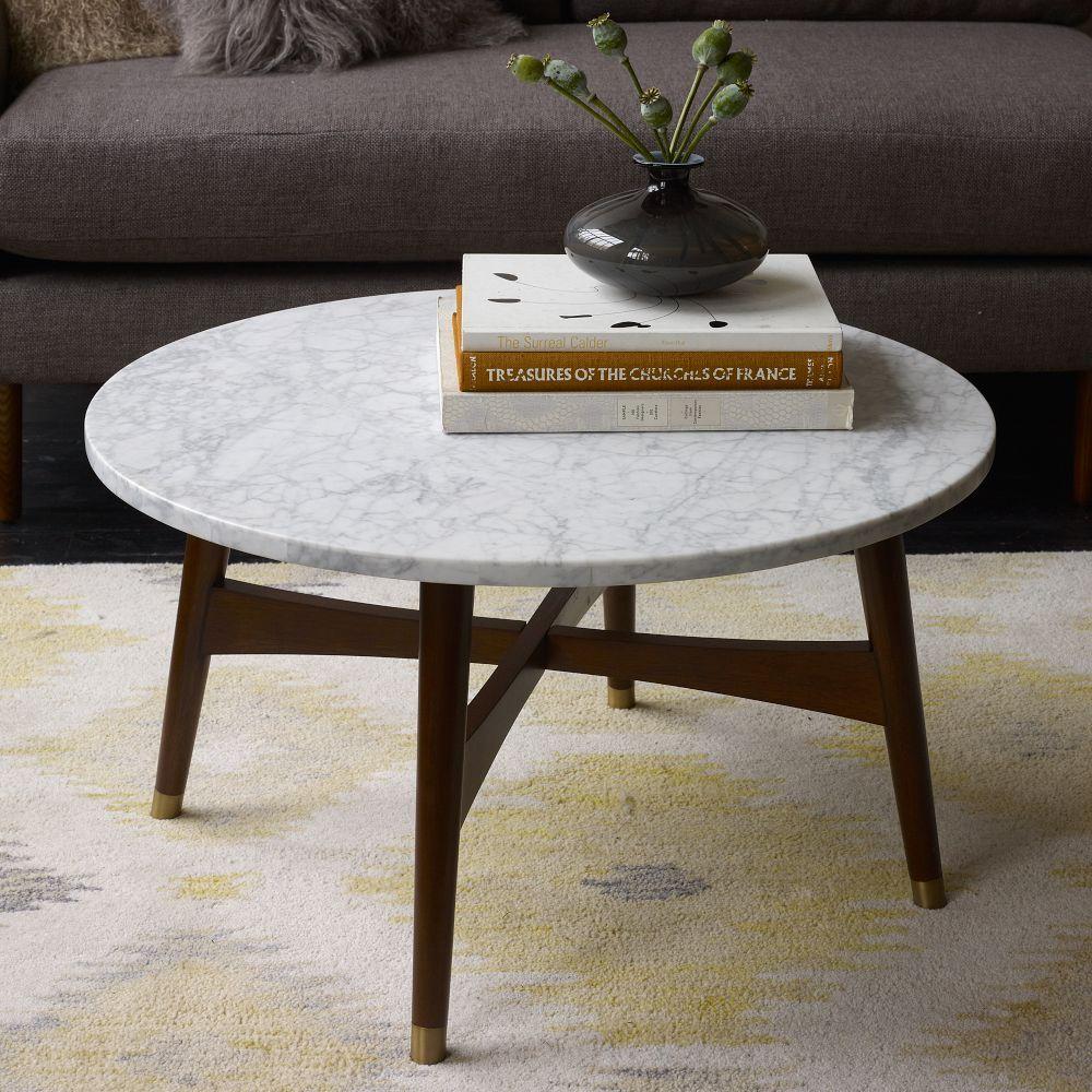 Etonnant Reeve Mid Century Coffee Table   Marble/Walnut | West Elm UK