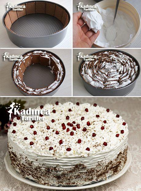 Krem Şantili Bisküvi Pasta Tarifi Videosu