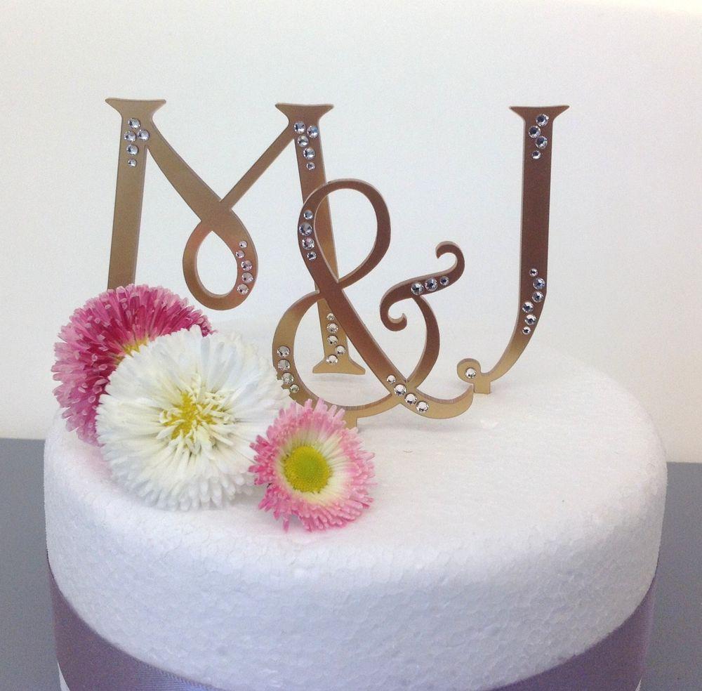 Personalised monogram wedding cake toppers letters | Monogram ...