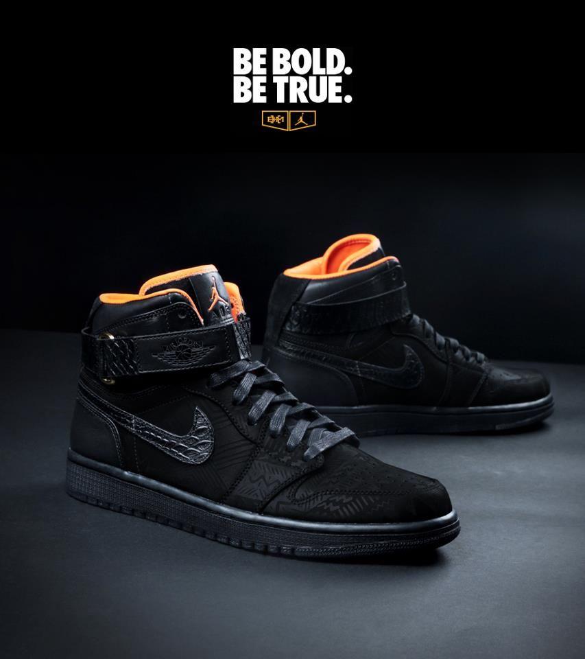 hot sale online 0e947 41b88 Limited Edition Nike Air Jordan 1 BHM   All Things Feet ...