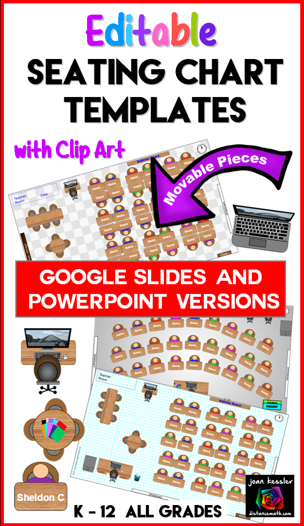 interactive classroom seating chart planner with google slides