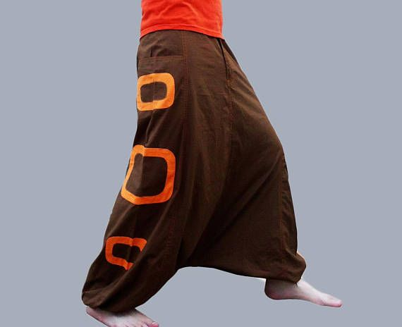 Harem Pants with pockets,(LAST PAIR M size) Aladdin Trousers - Afghani Pants - Alibaba Pants - Rave - Psy - Men - Women - Cotton