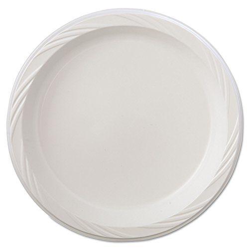 Lightweight Plastic Dinnerware Plate 9 Dia White 125pack 4 Packscarton Visit The Image Link More Details Plastic Dinnerware Plates Plastic Plates