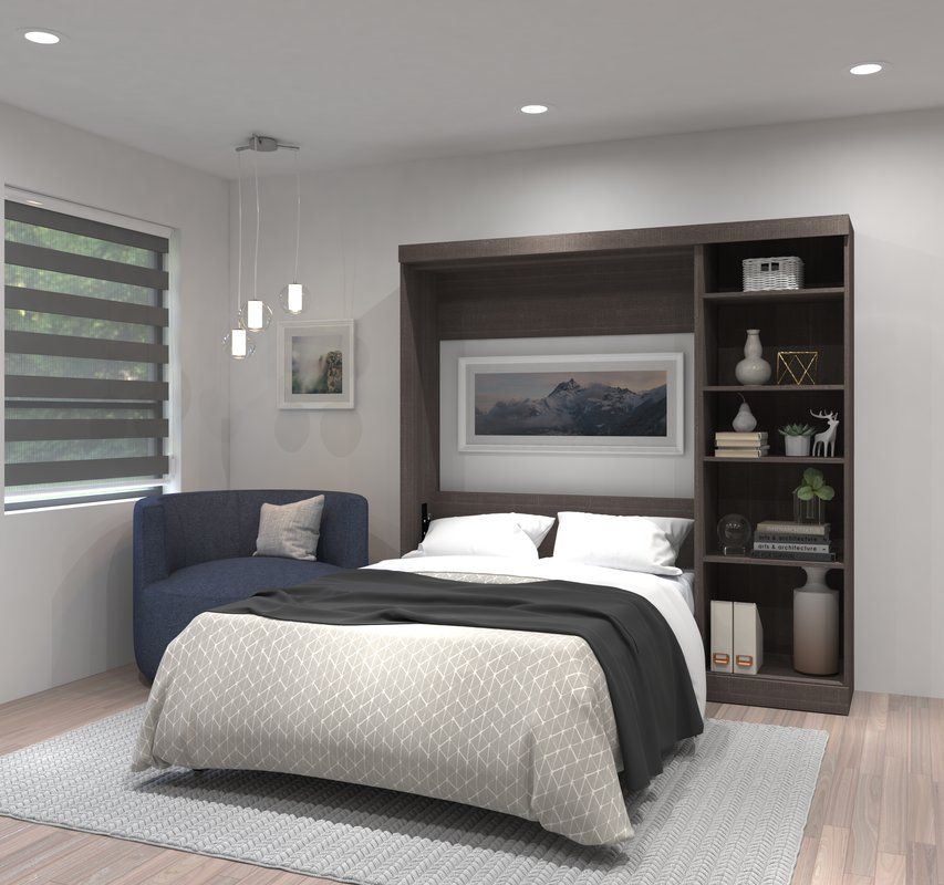 Walley Full Double Murphy Bed Modern Murphy Beds Remodel Bedroom Murphy Bed