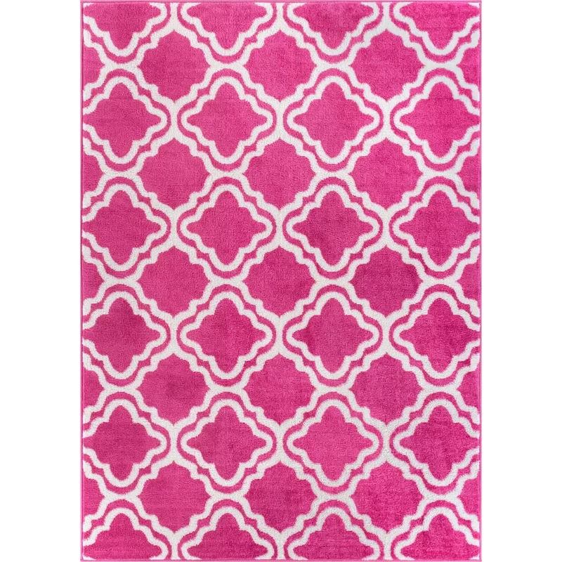 Bright Pink Area Rug Kids Rugs