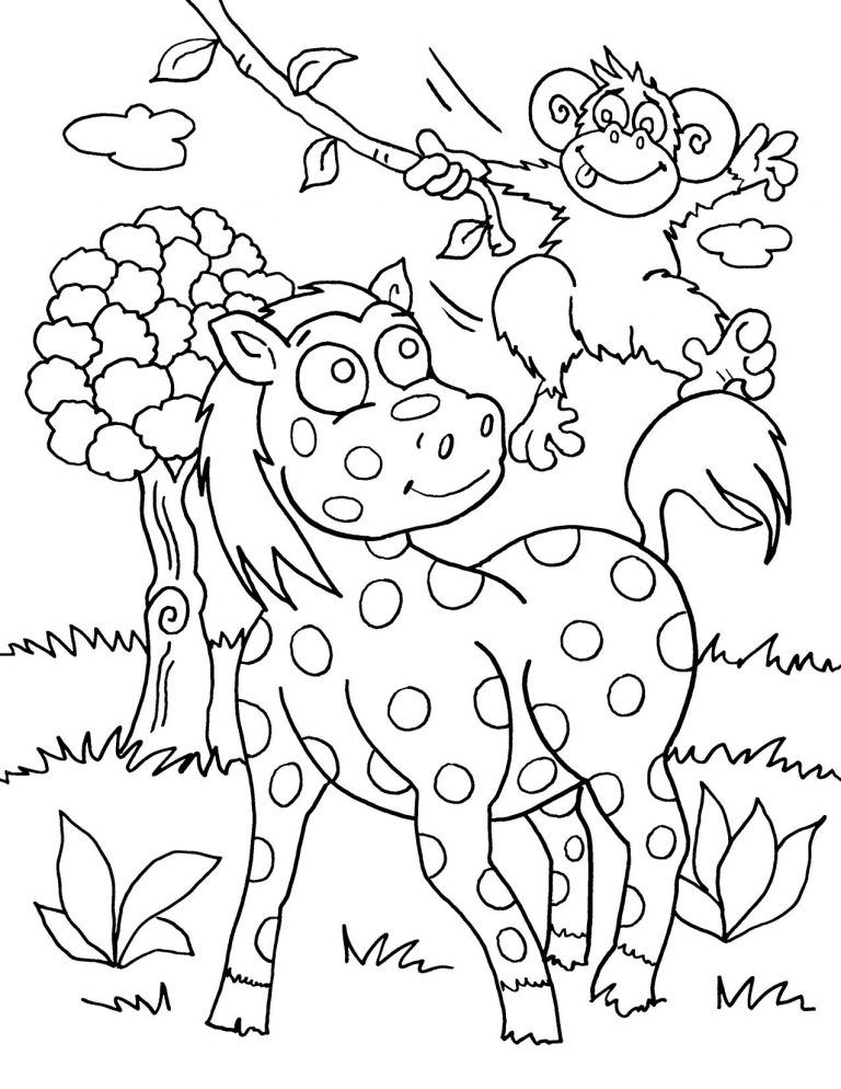 Wild Animal Coloring Pages | Cute wild animals, Animal ...