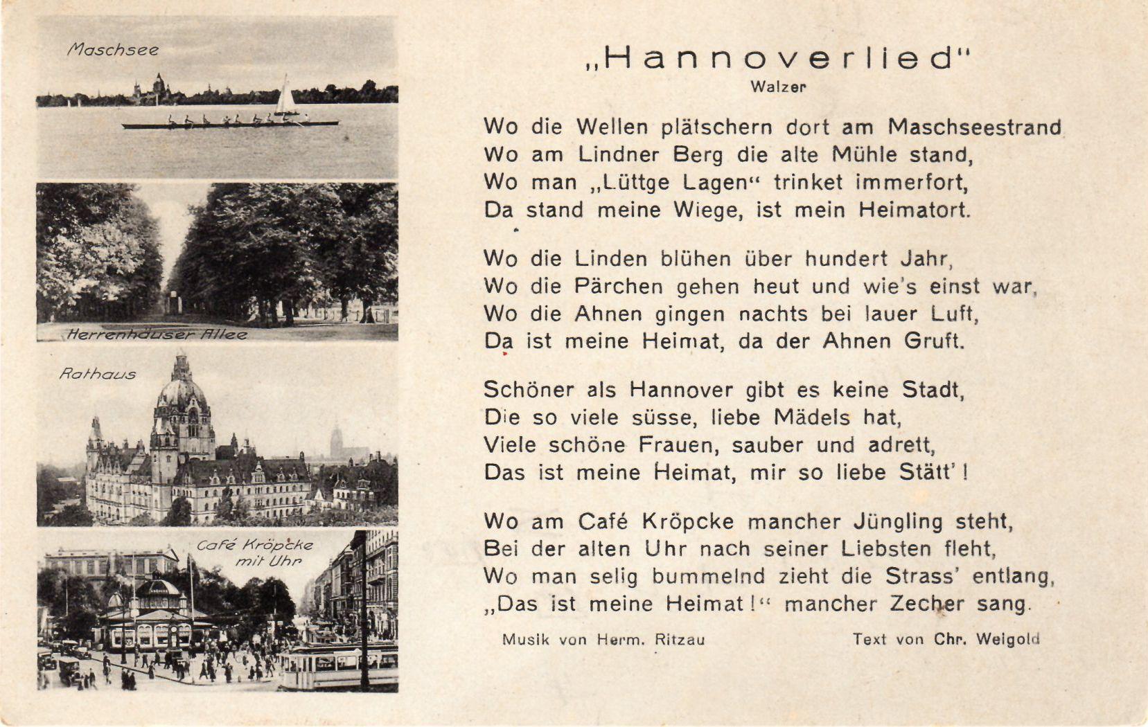 Hannoverlied - 1930er Jahre - schon damals durfte Lüttje Lage nicht fehlen.... . #lüttjelage #hannover #hannoverliebt #tradition #bier #schnaps
